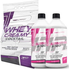 Whey Creamy Cocktail 2275 гр + L-Carnitine 3000 1000 мл