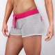 TRECGIRL 002 - SHORT PANTS/GREY-PINK