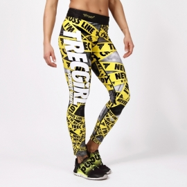 TRECGIRL 007 - LEGGINGS/YELLOW-BLACK